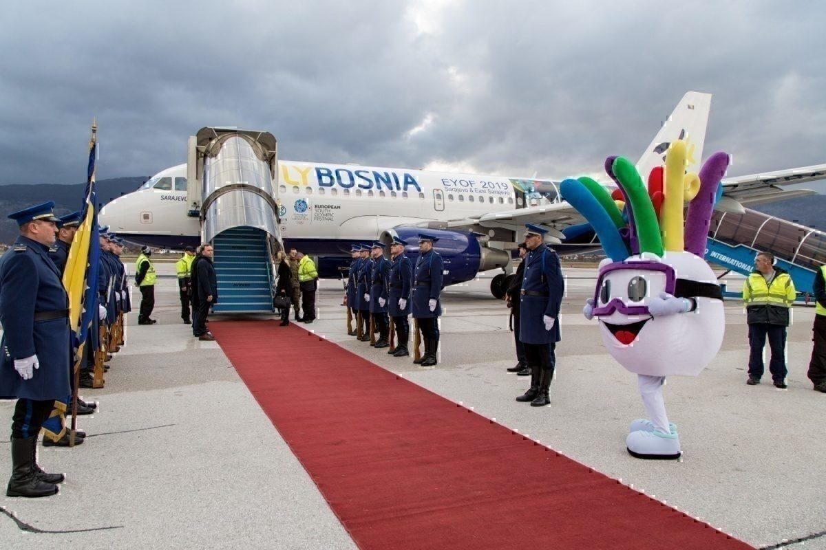 sarajevo flybosnia A319 special livery