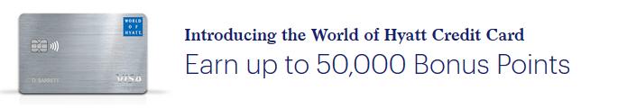 World of Hyatt card sign up bonus