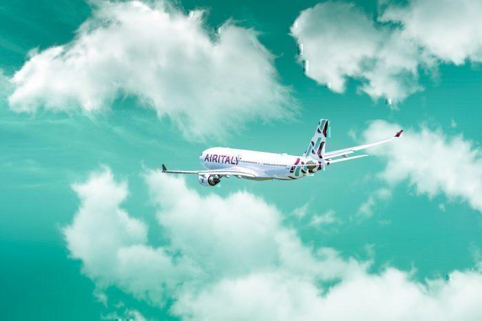 Air Italy jet in flight