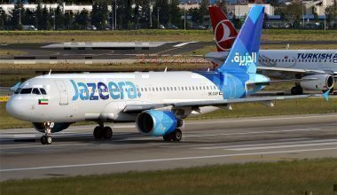 Jazeera Airways A320 on taxiway