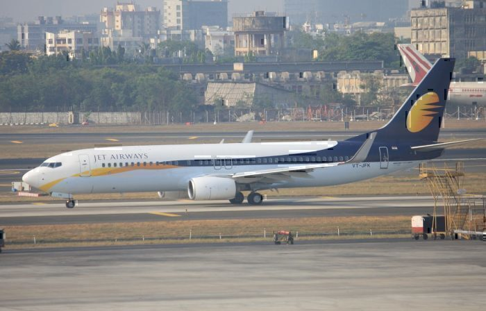Jet Airways airline on taxiway