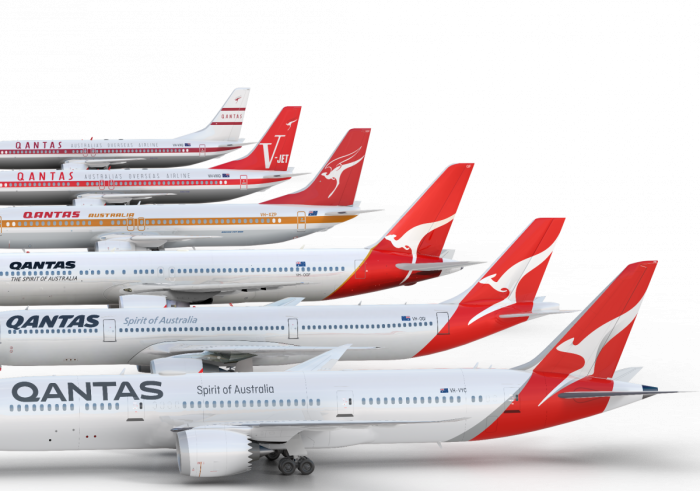 Historic Qantas liveries