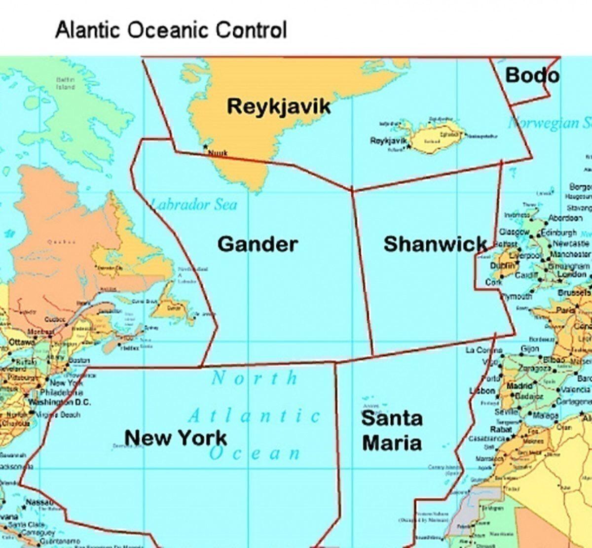 Atlantic Oceanic Control Centres