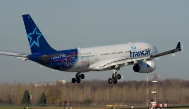 Air Transat A330 landing
