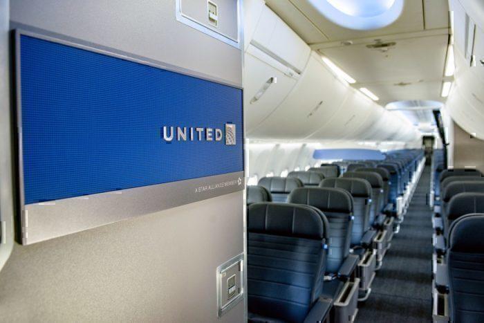 United 737 MAX cabin