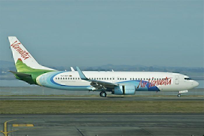Air Vanuatu airline on taxiway
