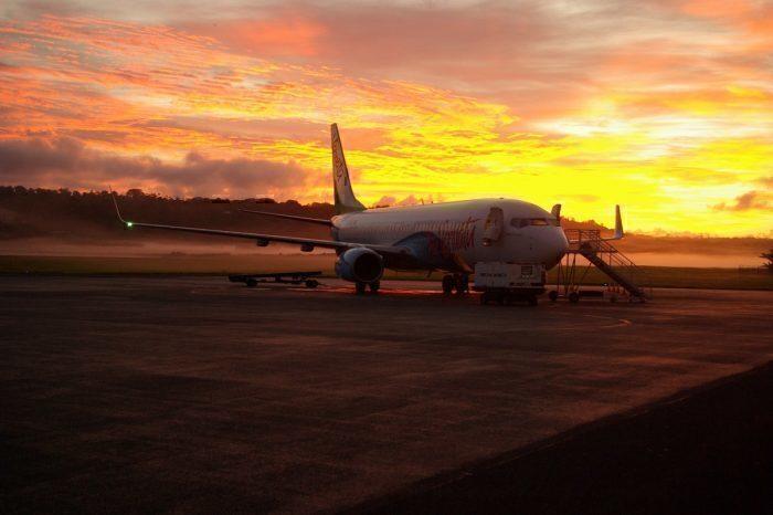 Air Vanuatu sunset