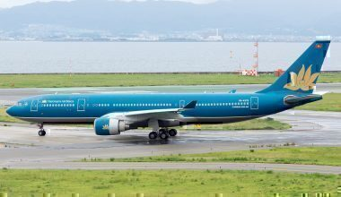 Vietnam Airlines A330-200 on taxiway