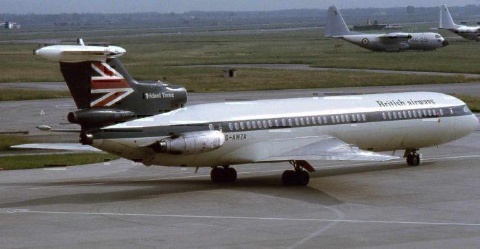 British Airways Hawker Siddeley Trident 3B