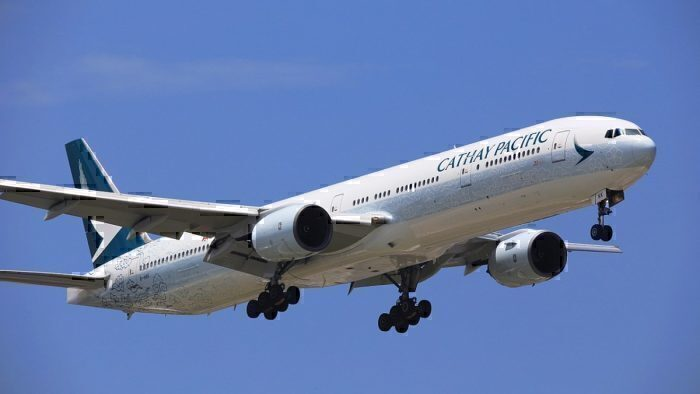 A Cathay Pacific jet