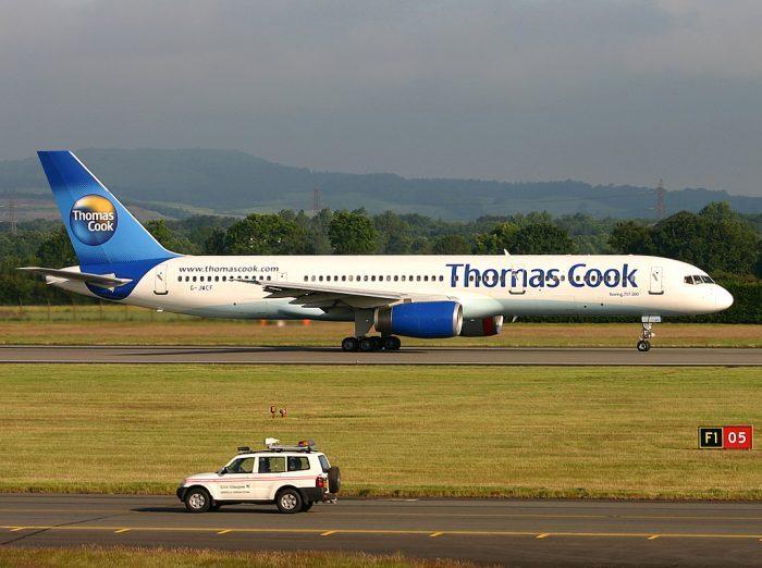 A Thomas Cook Airlines foi fundada em 2003, dando à empresa de viagens mais autonomia com seus serviços. Foto: Grupo Doton via Wikimedia Commons