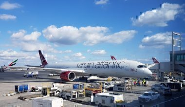 Virgin A350 celebration flight