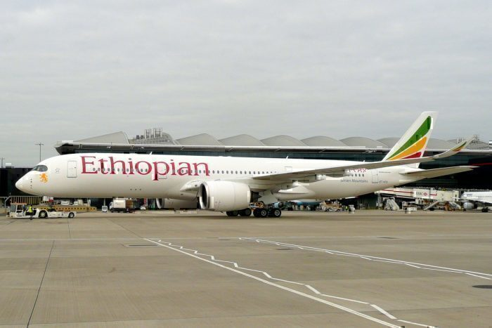 An Ethiopian Airlines A350