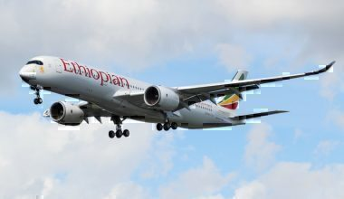 An Ethiopian Airlines Airbus A350