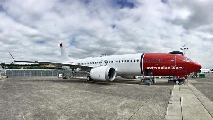 A Norwegian Airlines Boeing 737 MAX