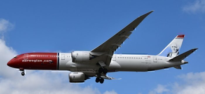 A Norwegian Air Boeing 787-9 Dreamliner