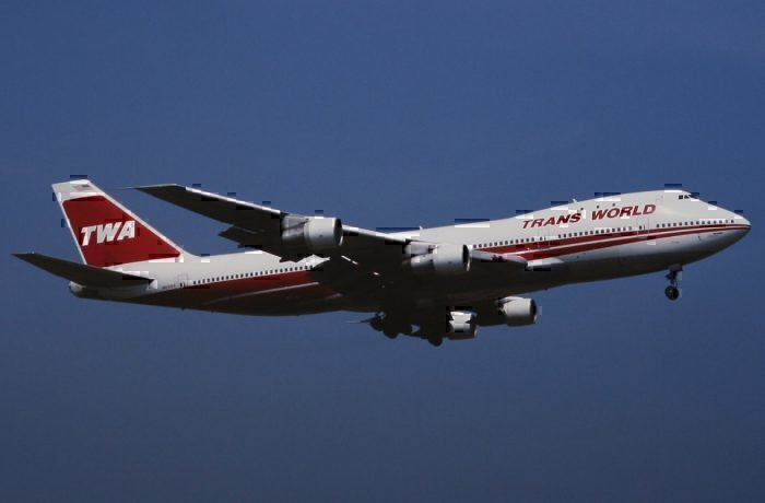 A Trans World Boeing 747-100