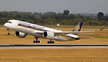 A Singapore Airlines Airbus A350