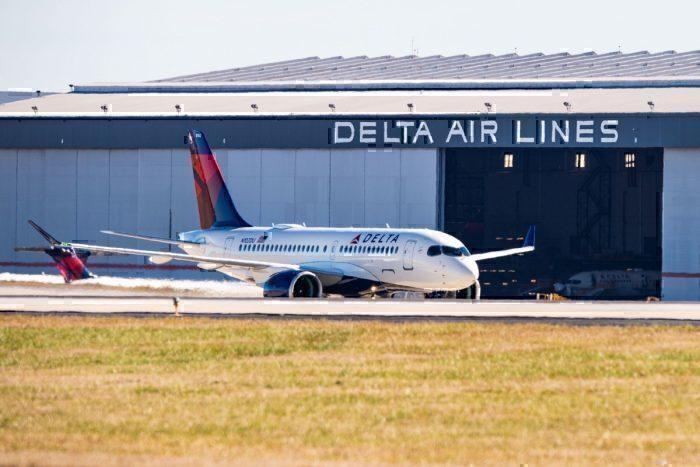 A Delta Air Lines Airbus A220