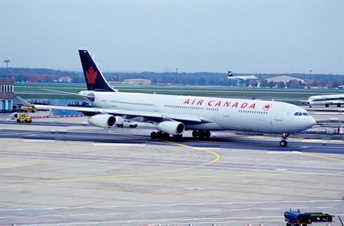An Air Canada Airbus A340
