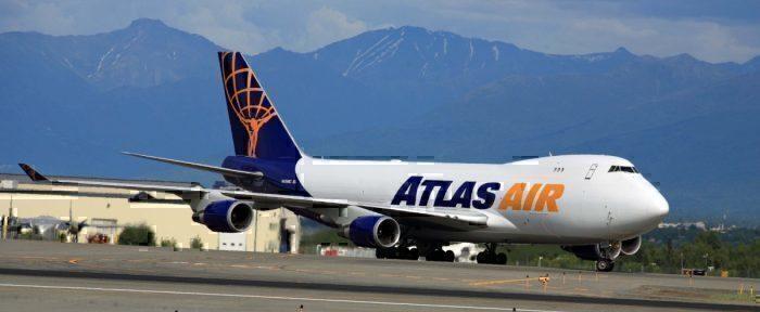 An Atlas Air Boeing 747 freighter