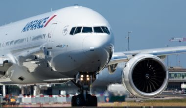 Air France jet on taxiway