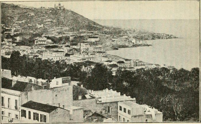 Como parte de seus serviços, Thomas Cook ofereceu guias para áreas locais. Esta é uma página de um guia de 1908 da Tunísia e Argélia. Foto: Internet Archive Book Images via Wikimedia Commons