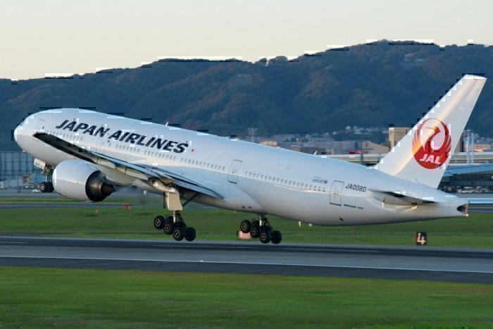 A Japan Airlines Boeing 777