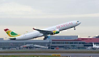 A330-900 Air Senegal take off