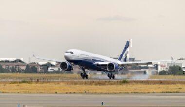 A330-900neo-Hi Fly-MSN1929-landing-1