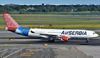 Air Serbia Airbus A330-202 (YU-ARA) at JFK_Airport