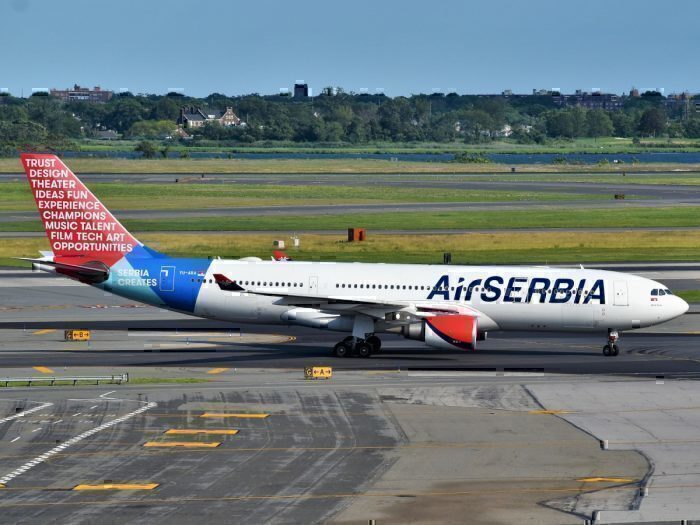Air Serbia Airbus A330-202 (YU-ARA) at JFK_Airport