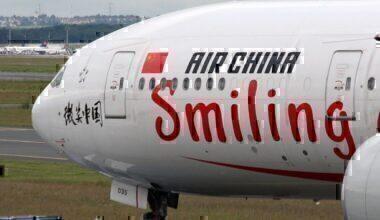 Air China 777 Similing livery