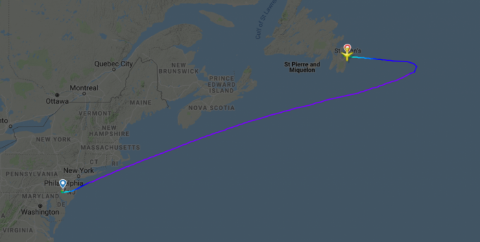 American Airlines 767 diversion