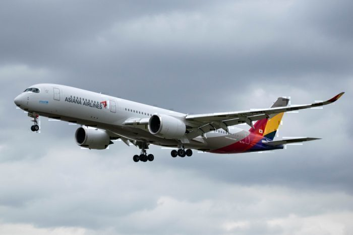 Asiana Airlines, Airbus A350, London Heathrow