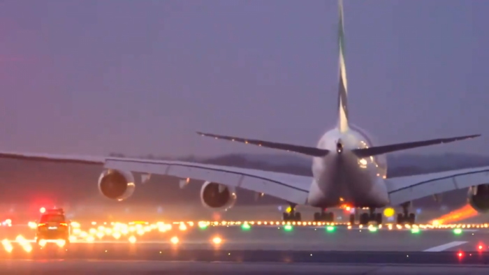 Car Chases Emirates A380 In Dramatic Video Filmed At