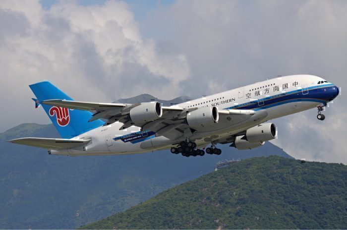 A China Southern Airbus A380