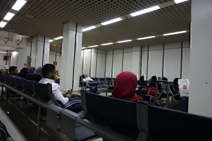 Basement waiting room