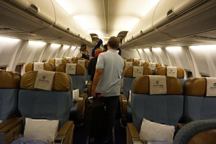 Boarding Egypt Air 737
