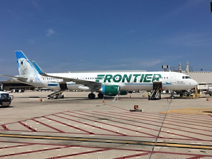A Frontier Airlines Airbus A321