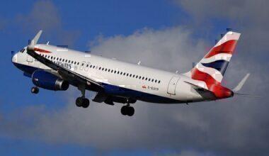 A British Airways jet