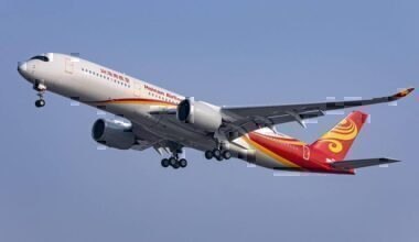 Hainan Airlines plane taking off