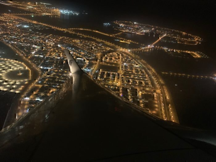 Taking off from Bahrain
