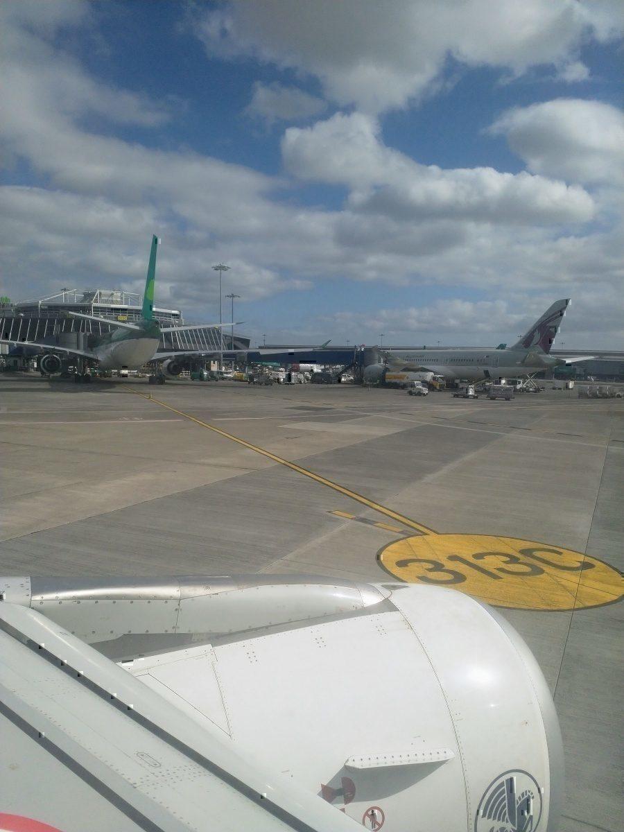 Aer Lingus at Qatar Airways at Dublin Airport