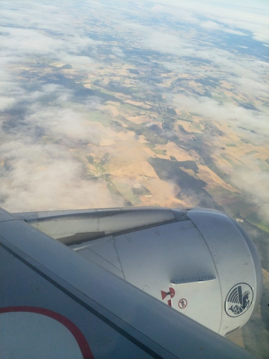 Air France DUB-CDG view from the skies above France