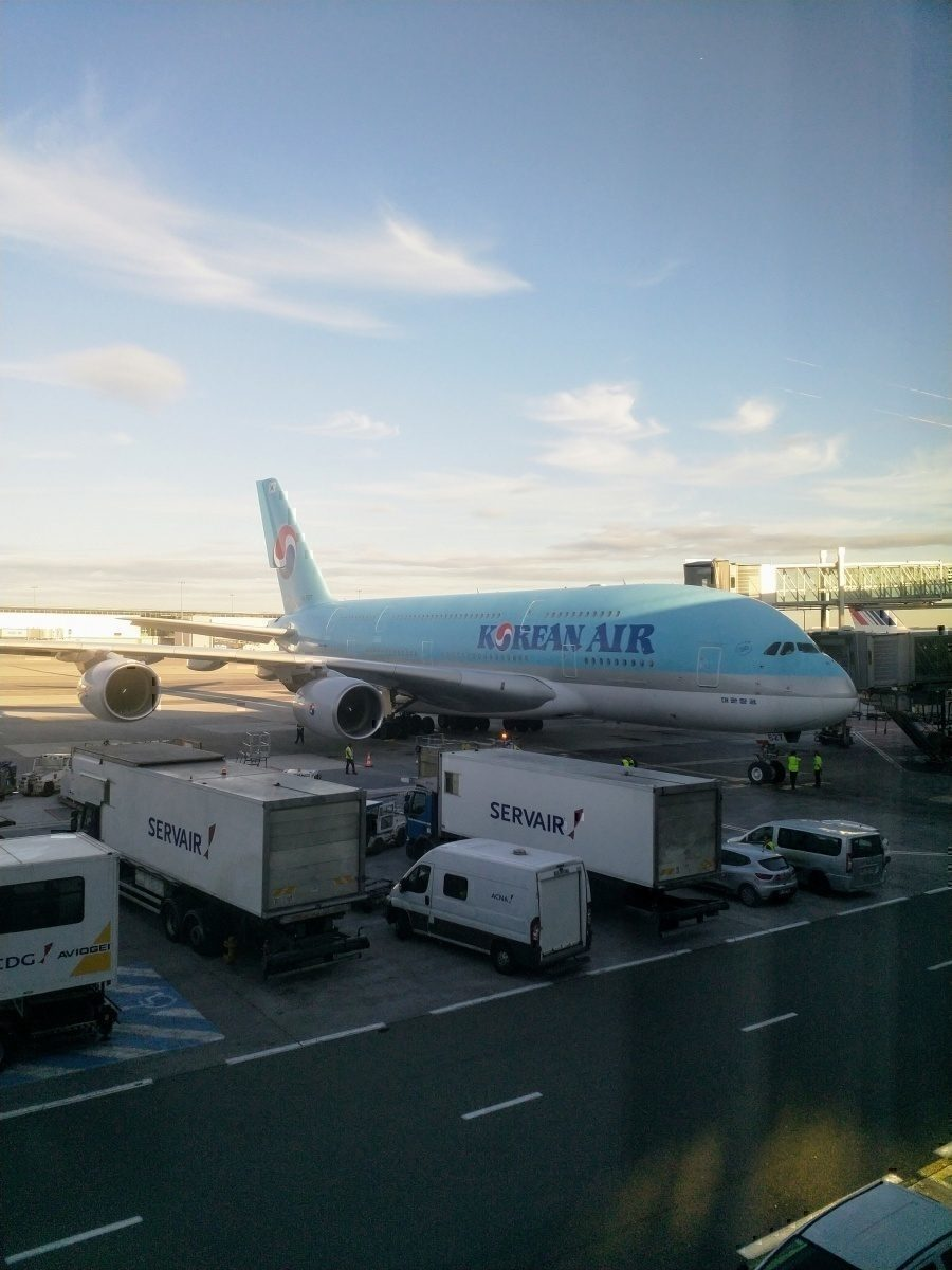Korean Airlines A380 at CDG