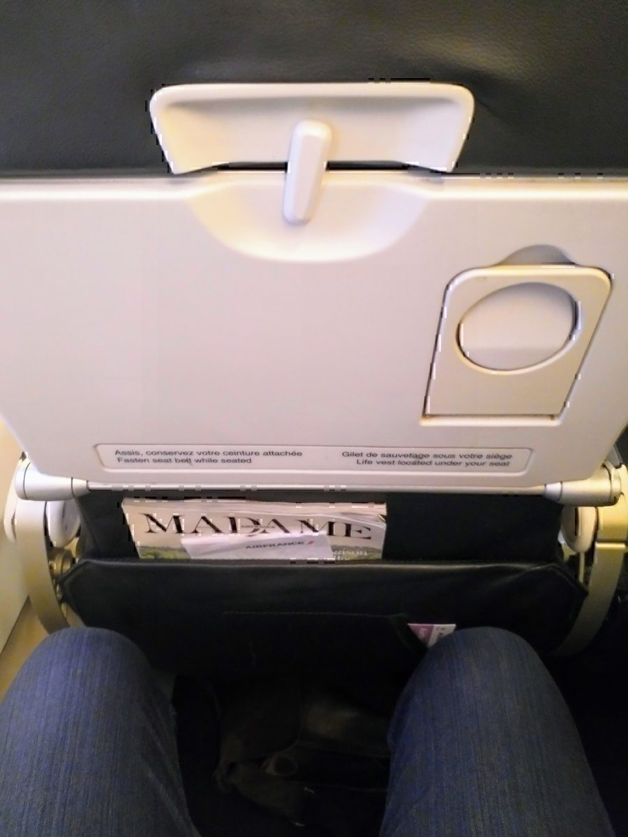 A rather close seat back