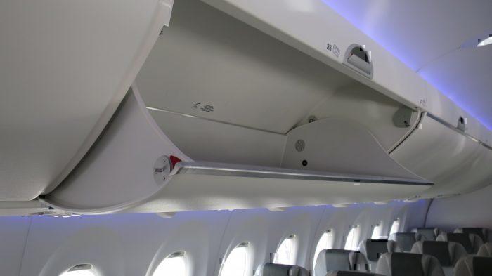 A220 overhead bins