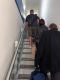 Stansted Airport, Narrow Staircase, Gate Area