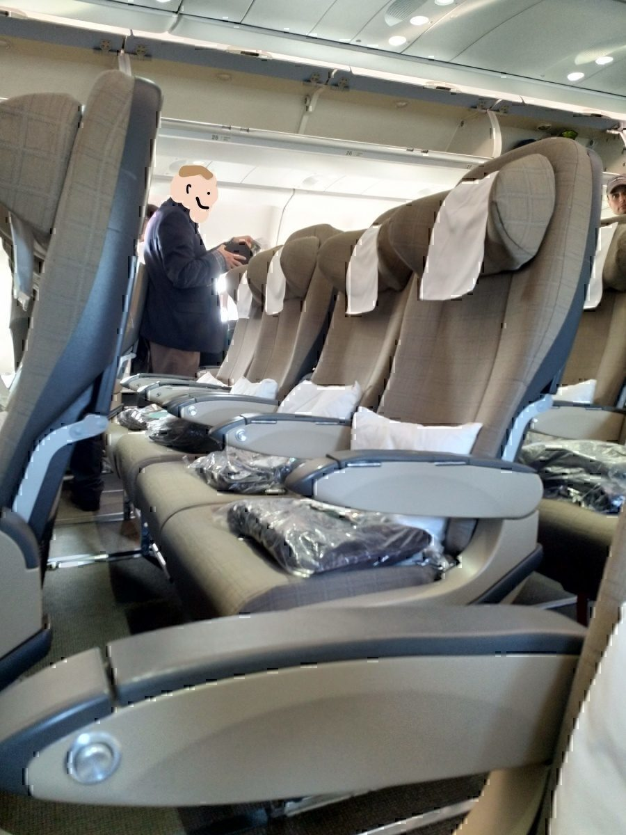 SWISS A330 row